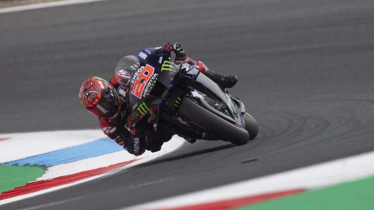 Fabio Quartararo durante el GP de Holanda de MotoGP. (Getty)