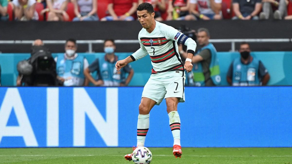 Cristiano Ronaldo, durante el partido contra Bélgica.