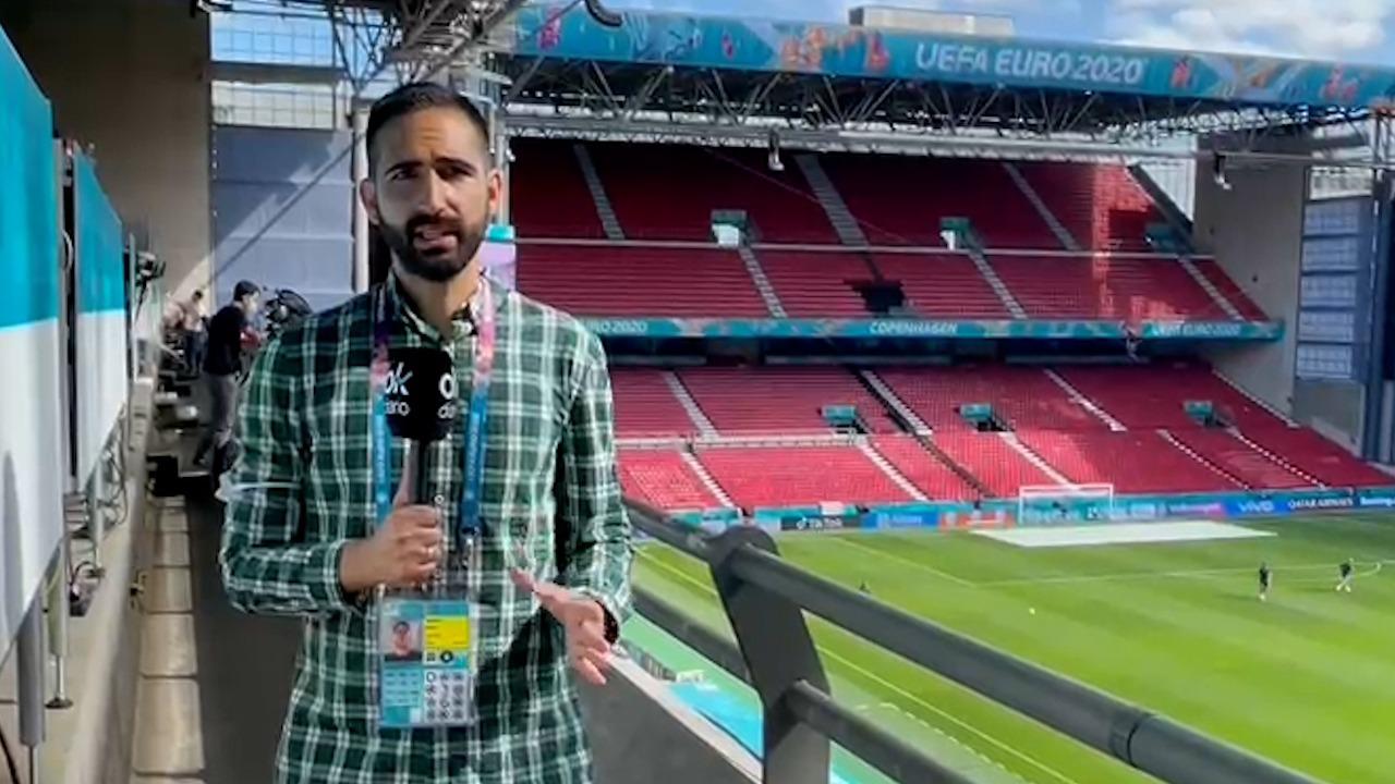 Javi Iglesias cuenta la alineación de Croacia contra España.