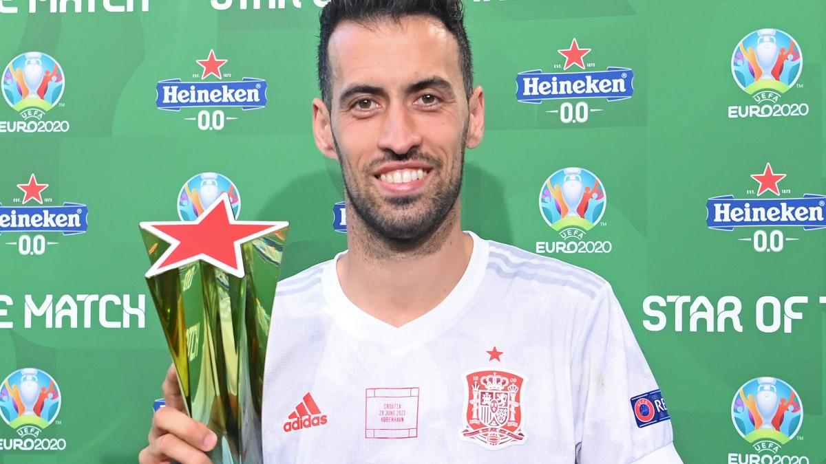 Busquets, MVP del partido contra Croacia.