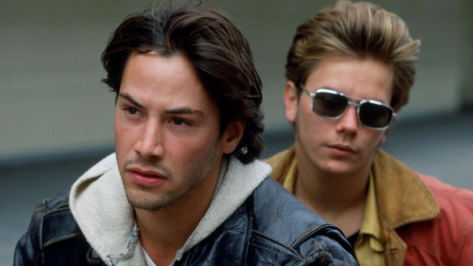 Keanu reeves y River Phoenix en «Mi Idaho privado» (New Line Cinema)