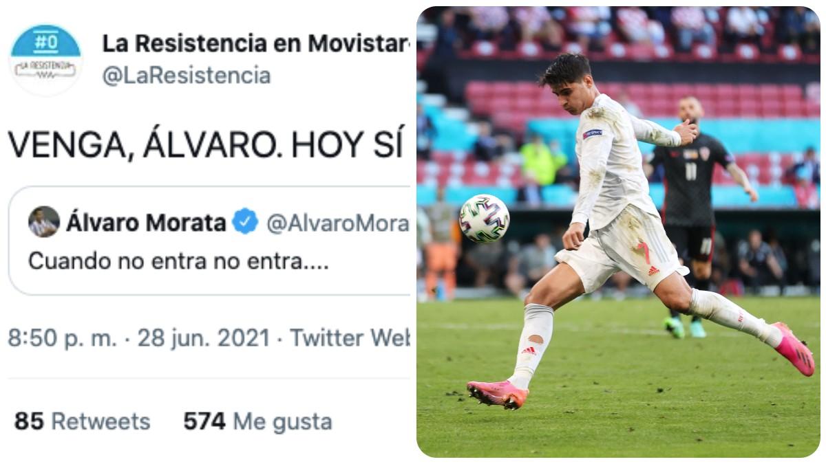 Morata fue trolleado por La Resistencia.