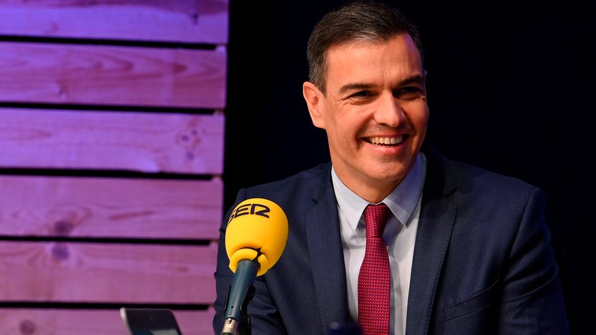 Pedro Sánchez, durante la entrevista de este lunes en la Cadena SER. (EFE)