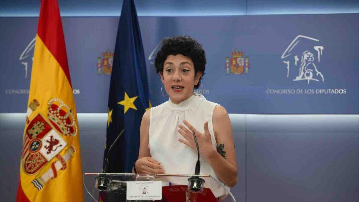 Aina Vidal, portavoz parlamentaria de Unidas Podemos (EUROPA PRESS).