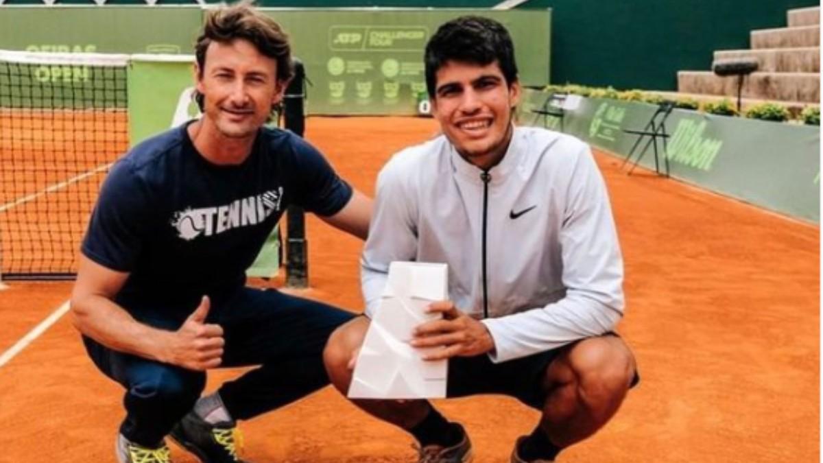 Juan Carlos Ferrero y Carlos Alcaraz.