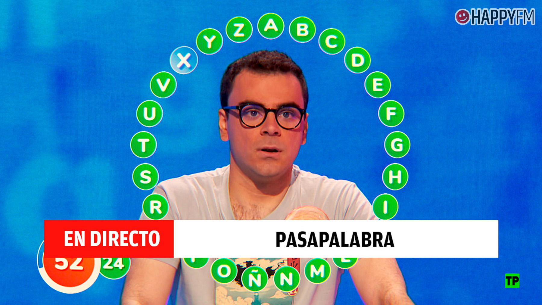 Pablo Díaz en Pasapalabra en directo