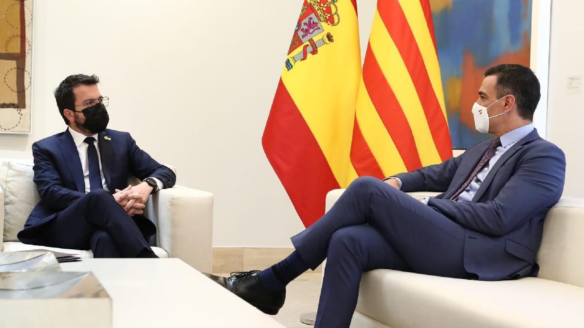 Pedro Sánchez y Pere Aragonès en Moncloa (Foto: Moncloa)