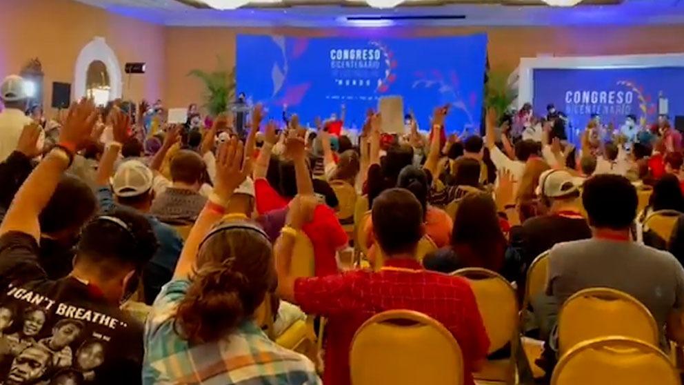Cumbre celebrada en Venezuela con presencia de la CUP y Bildu.