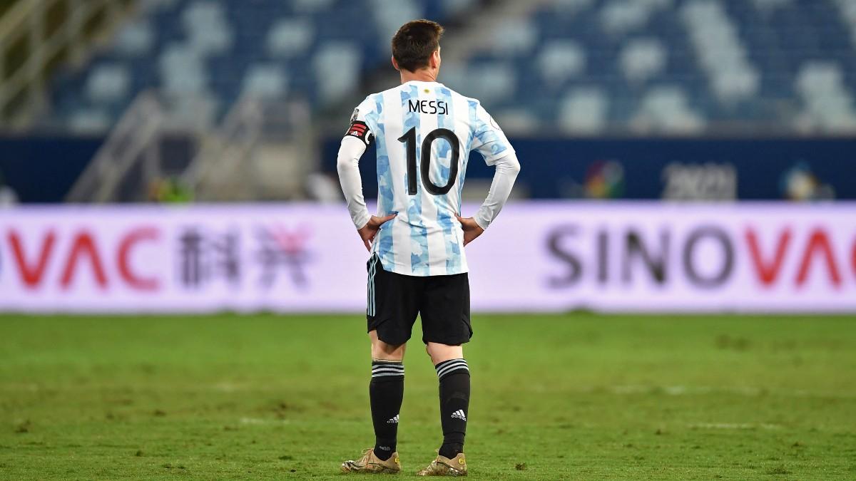 Lionel Messi, durante un partido de Argentina en la Copa de América (AFP).