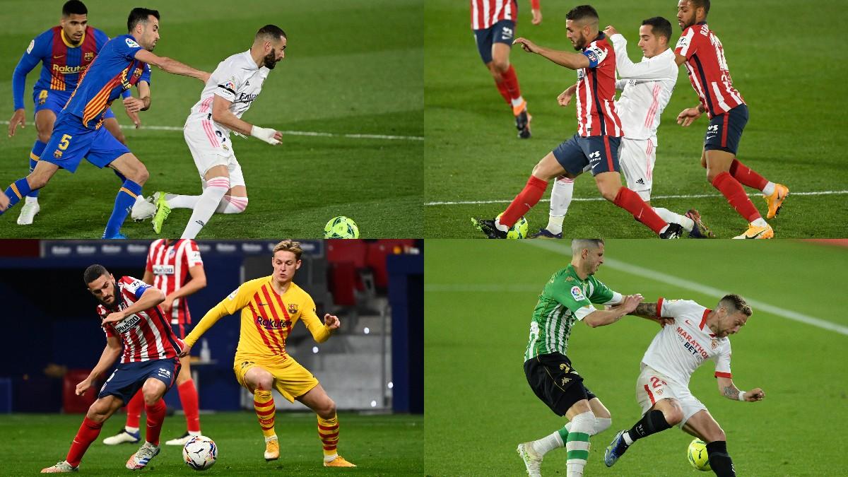 Los partidos más destacados de la Liga Santander 20-21 (AFP).