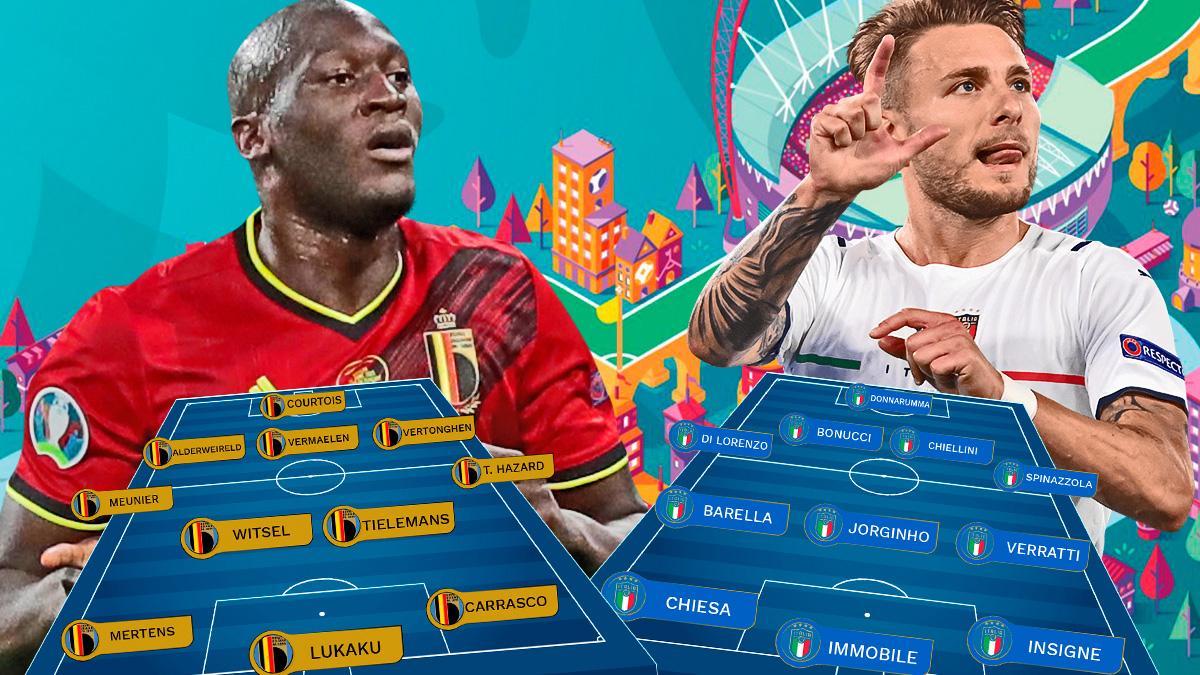 Italia y Bélgica se enfrentan en cuartos de la Eurocopa.