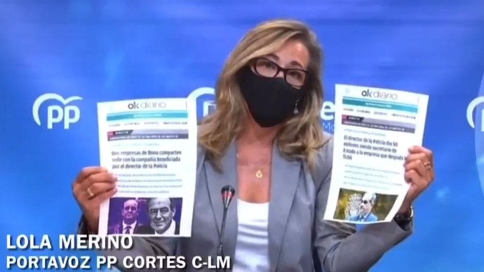 Lola Merino, portavoz del PP.