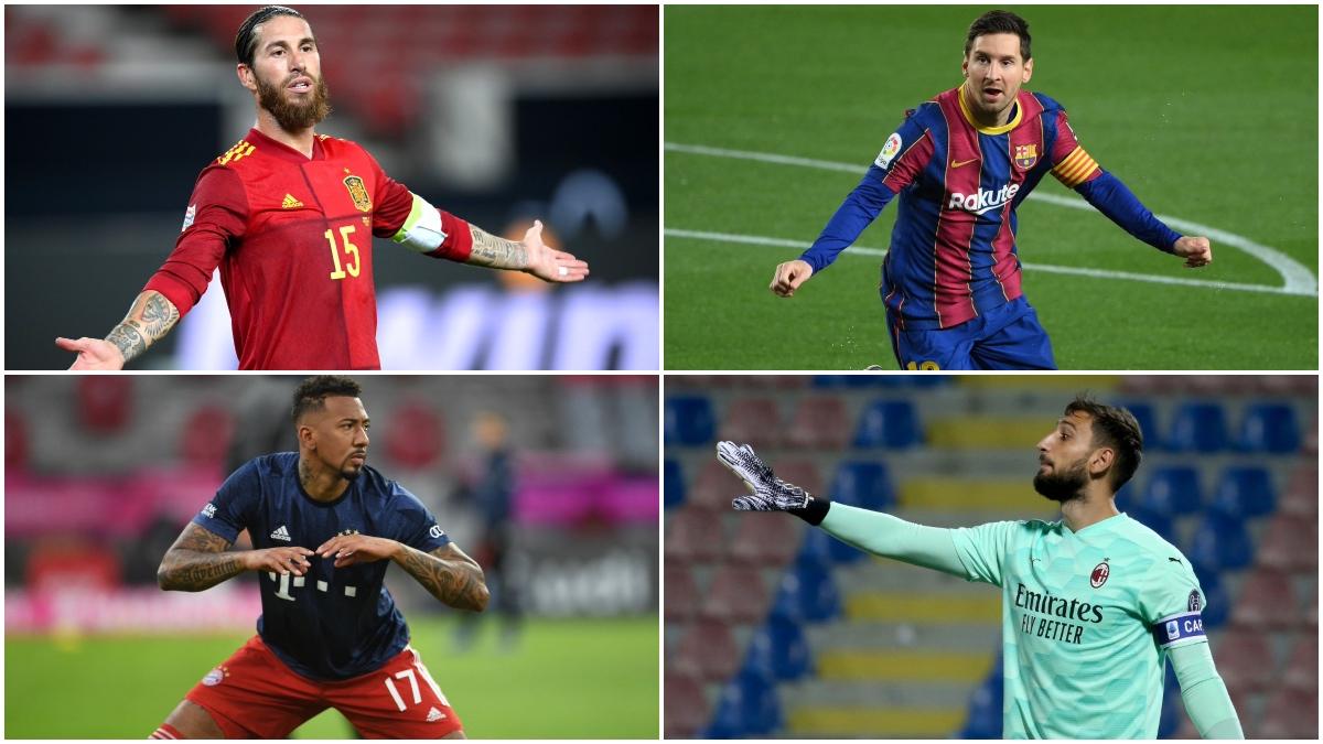 Sergio Ramos, Leo Messi, Boateng o Donnarumma, entre los jugadores libres del mercado.