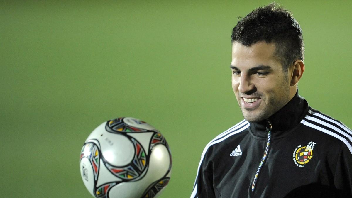 Cesc Fábregas, en su época como internacional español. (AFP)