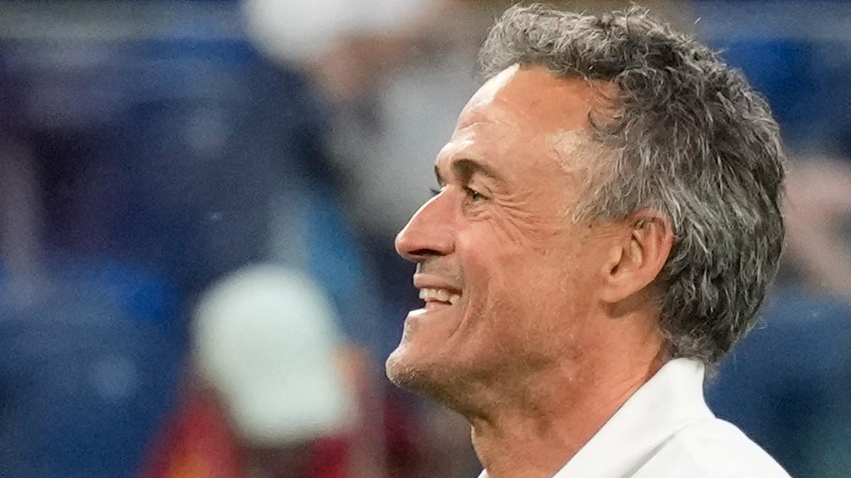 Luis Enrique en un partido con España. (AFP)