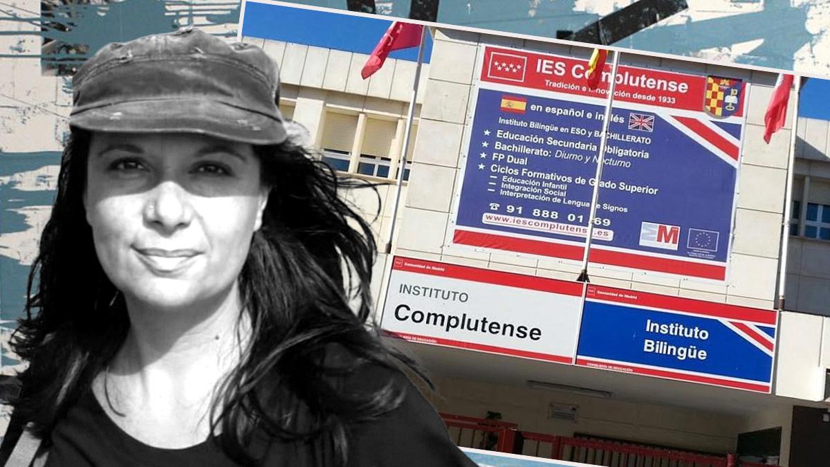 La directora del instituto IES Complutense de Alcalá de Henares.
