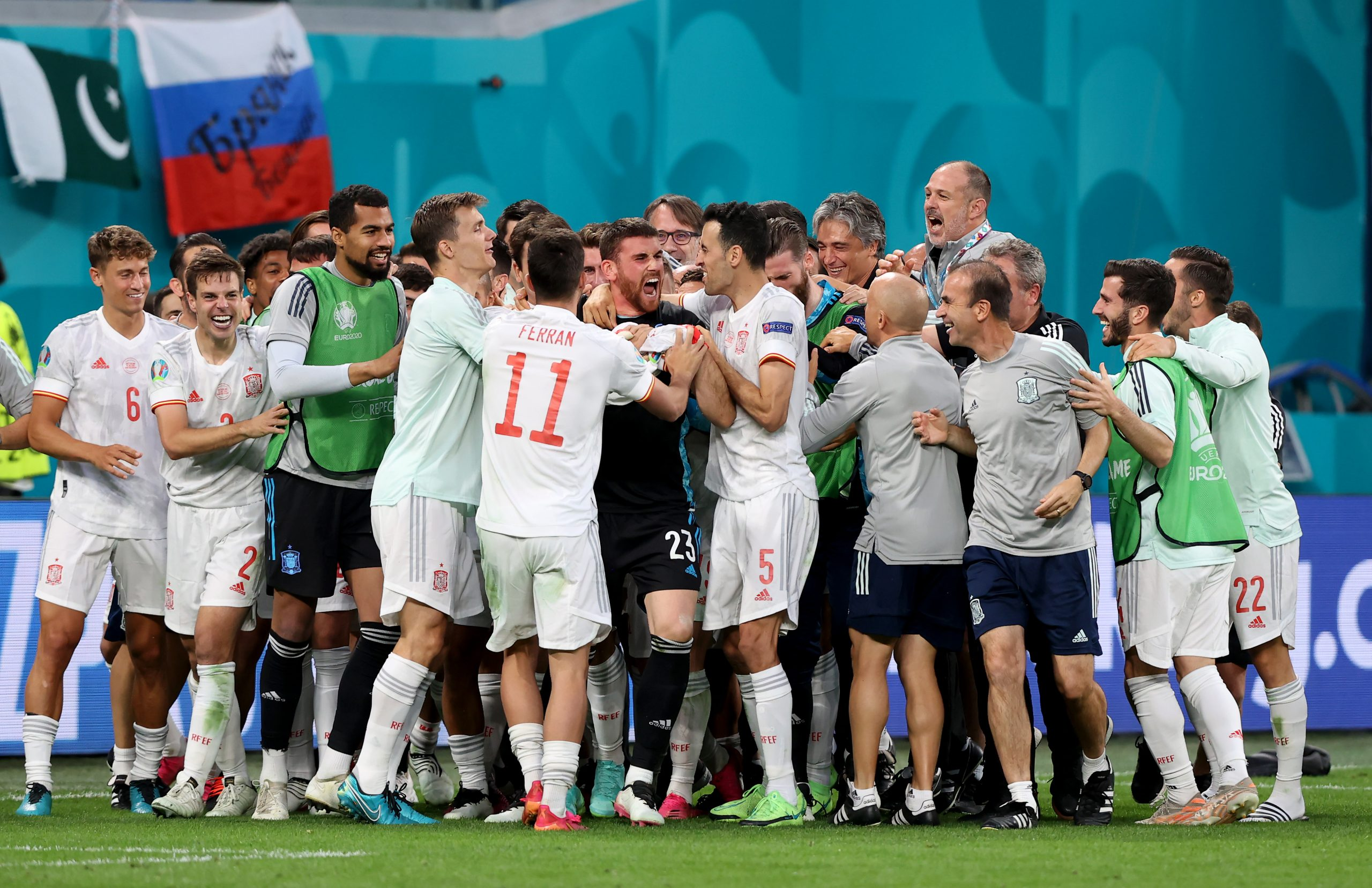 España pasa a la semifinal de la Eurocopa tras ganar a Suiza