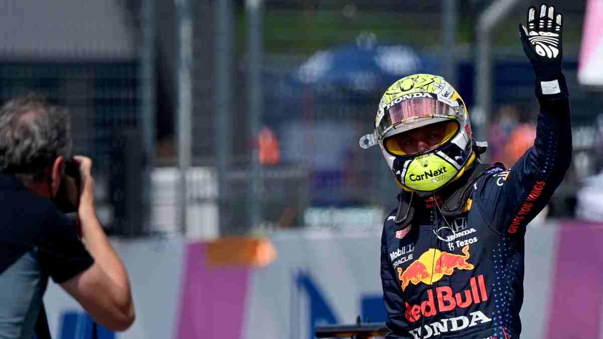 Max Verstappen tras la sesión de clasificación del Gran Premio de Austria. (AFP)