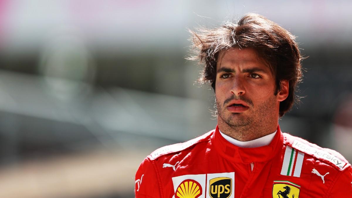 Carlos Sainz, después de la clasificación del Gran Premio de Austria. (Getty)
