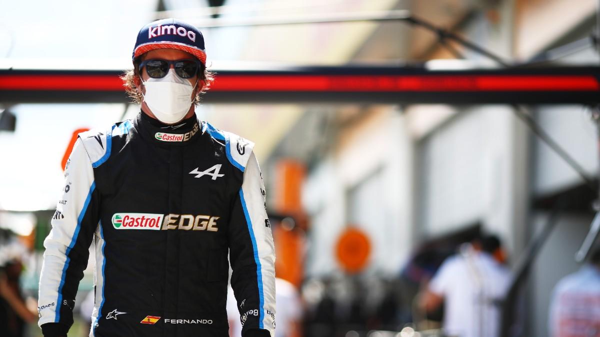 Fernando Alonso, después de la clasificación del GP de Austria. (Getty)