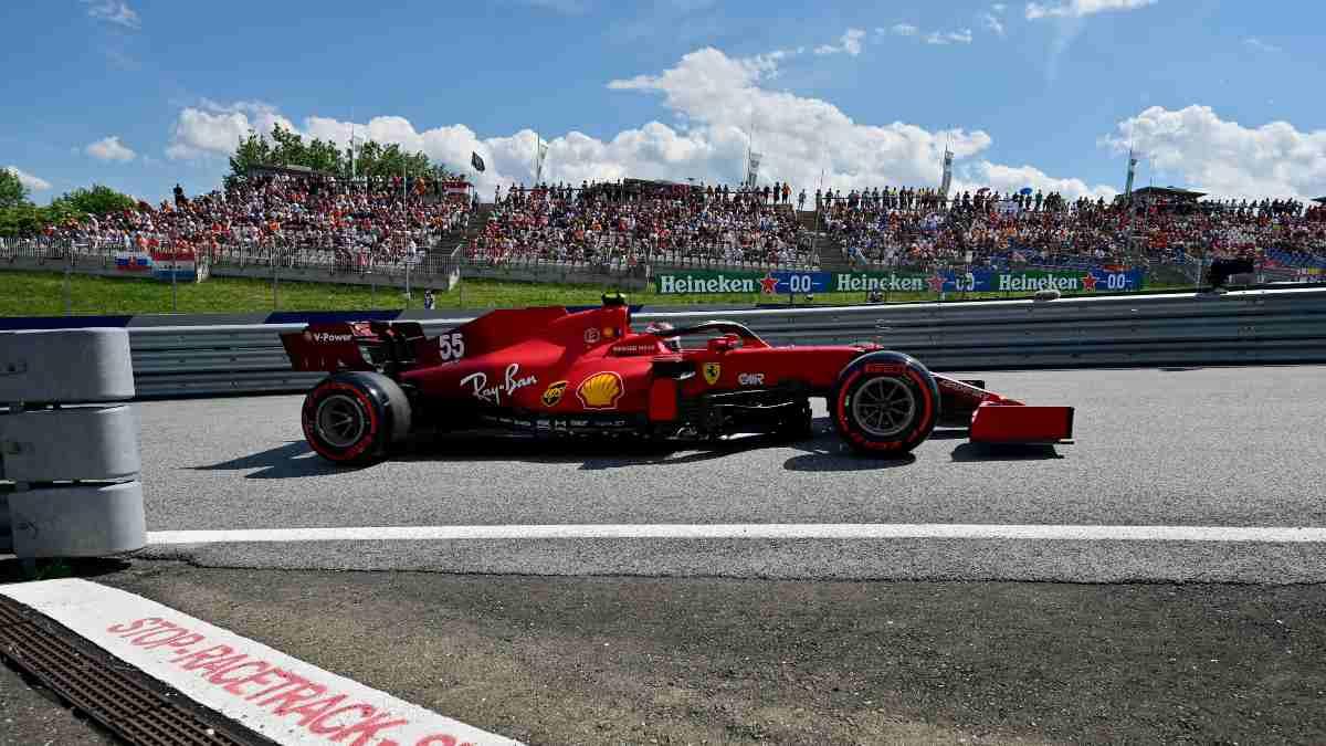Carlos Sainz durante el Gran Premio de Austria de Fórmula 1. (AFP)