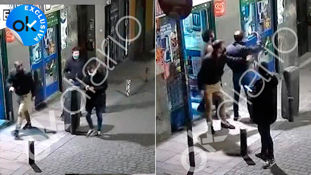 Imagen de una de las cámaras que grabó a Errejón la noche que un jubilado lo denunció por patearle.