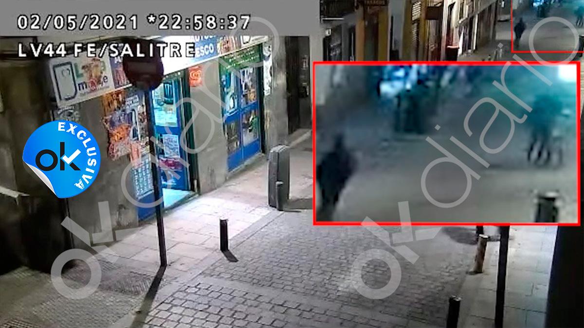 Momento del vídeo de la presunta agresión por la que se investiga a Íñigo Errejón.
