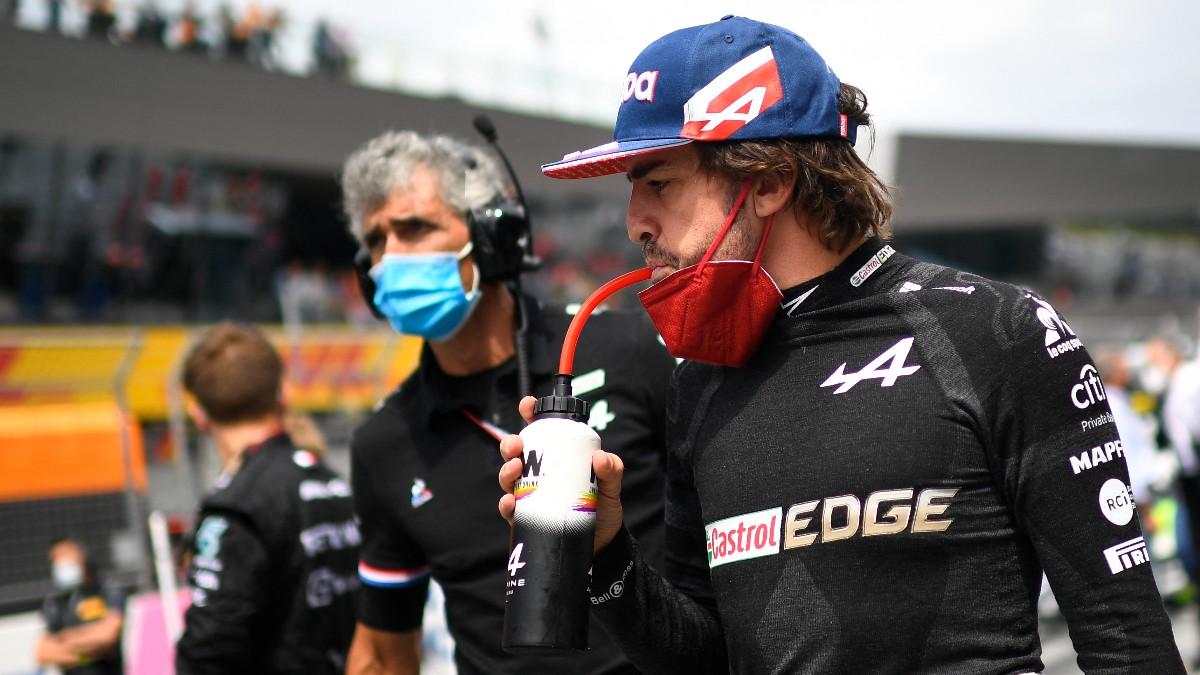 Fernando Alonso, durante el Gran Premio de Austria de F1. (AFP)