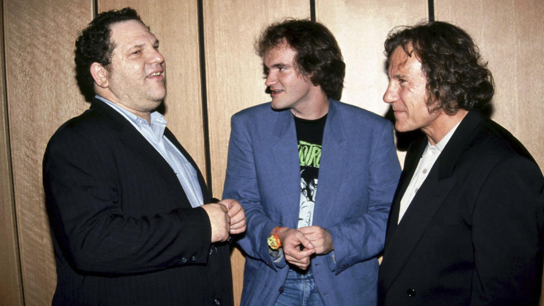Harvey Wenstein, Quentin Tarantino y Harvey Keitel (Copyright Le Pacte)