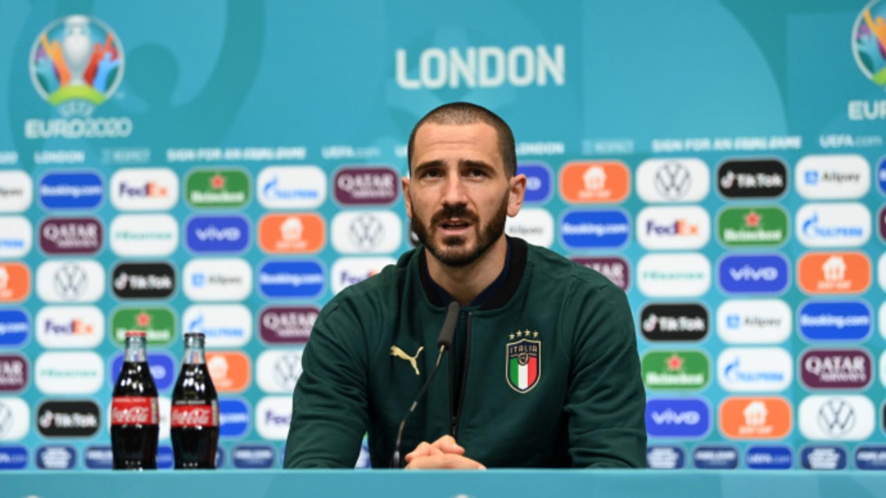 Bonucci en un partido con Italia. (UEFA)