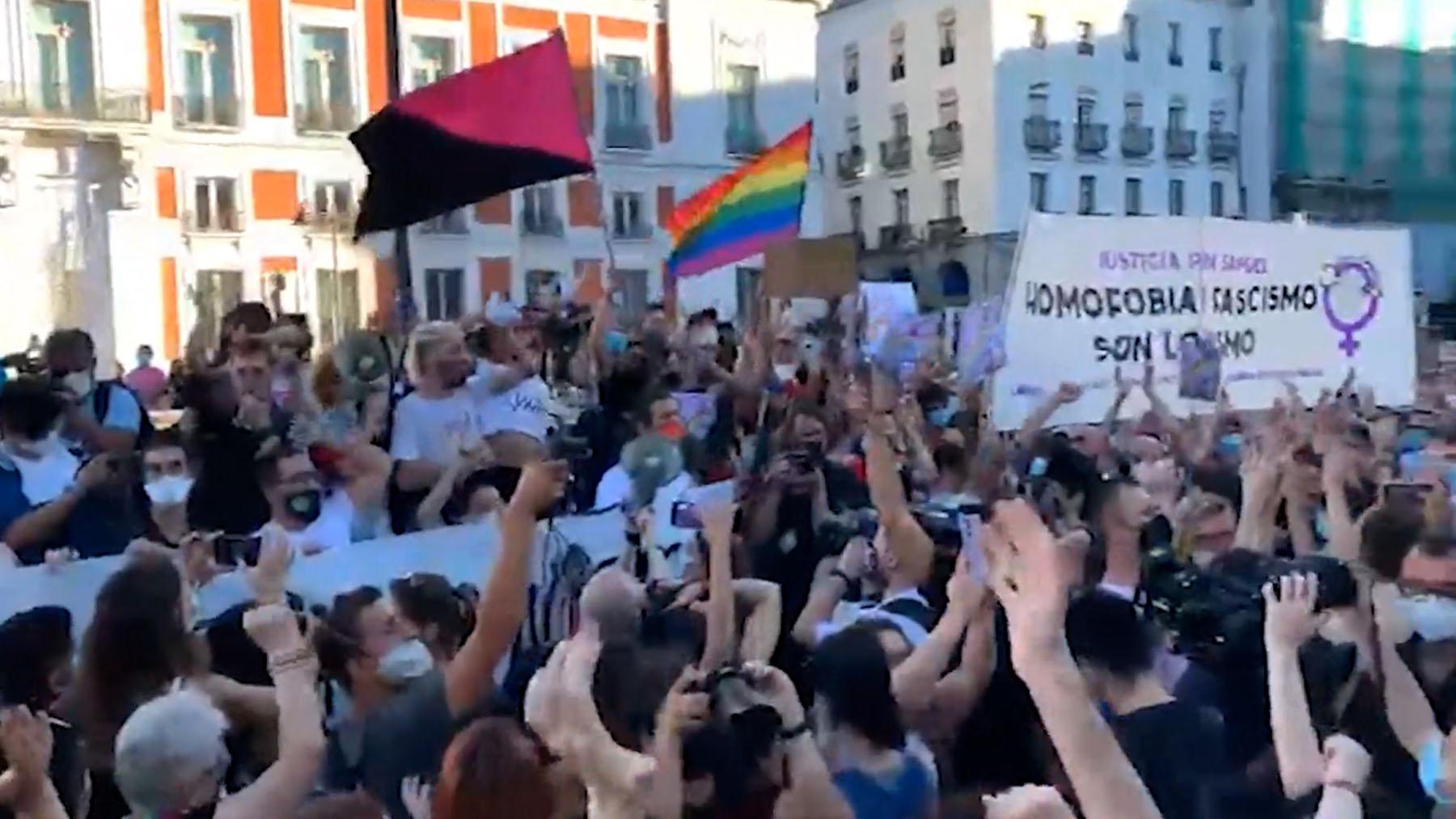Una de las manifestaciones fue convocada en Madrid.