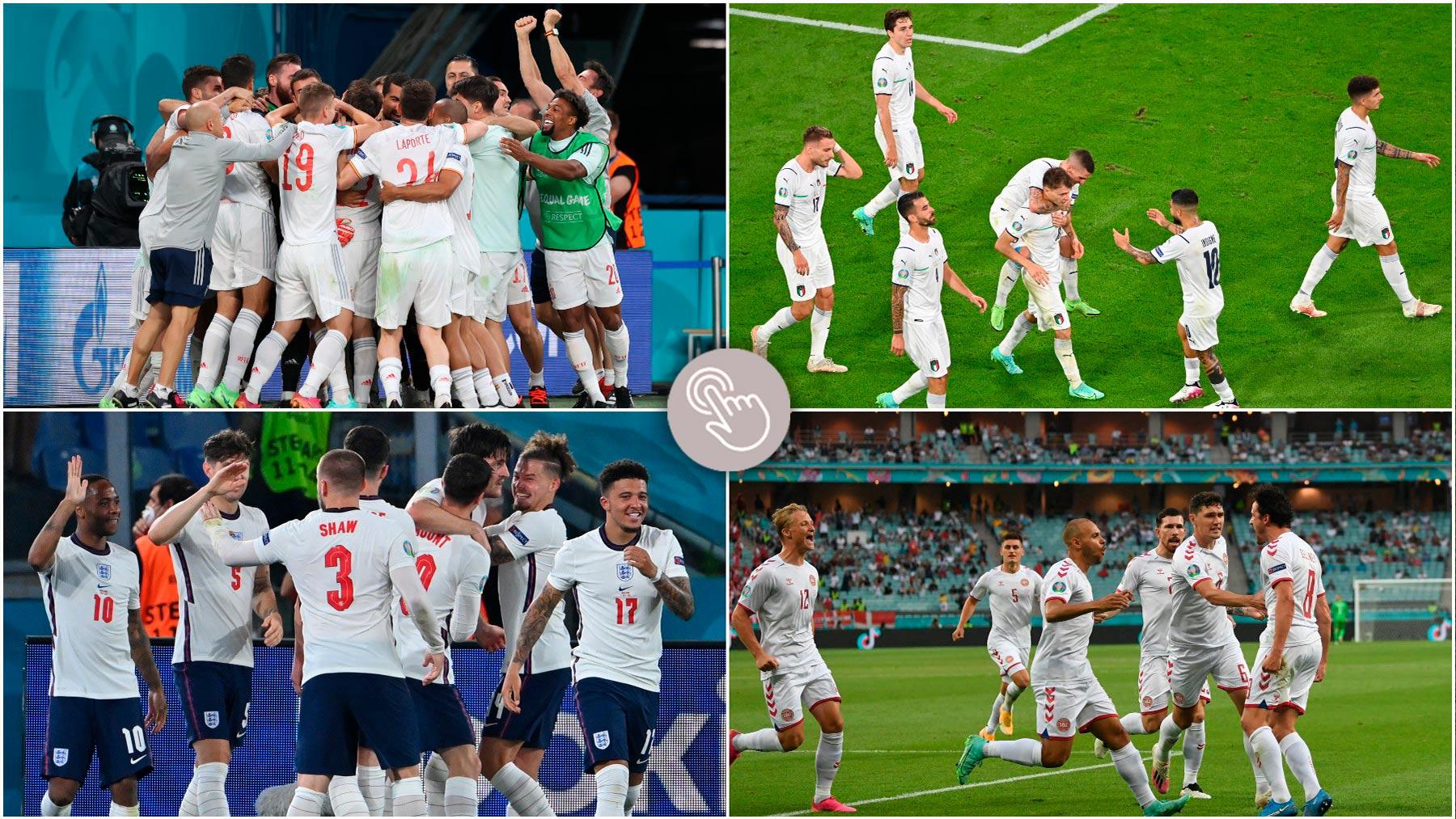 Encuesta: ¿Qué selecciones pasarán a la final de la Eurocopa 2020?