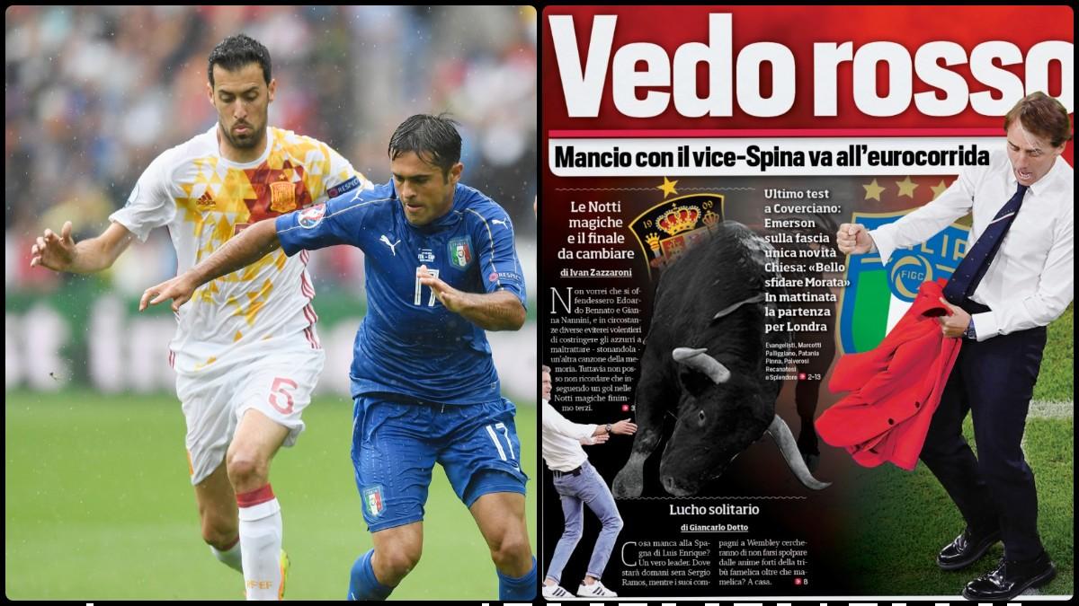 La prensa de Italia calienta el partido e intenta torear a España. (Getty)