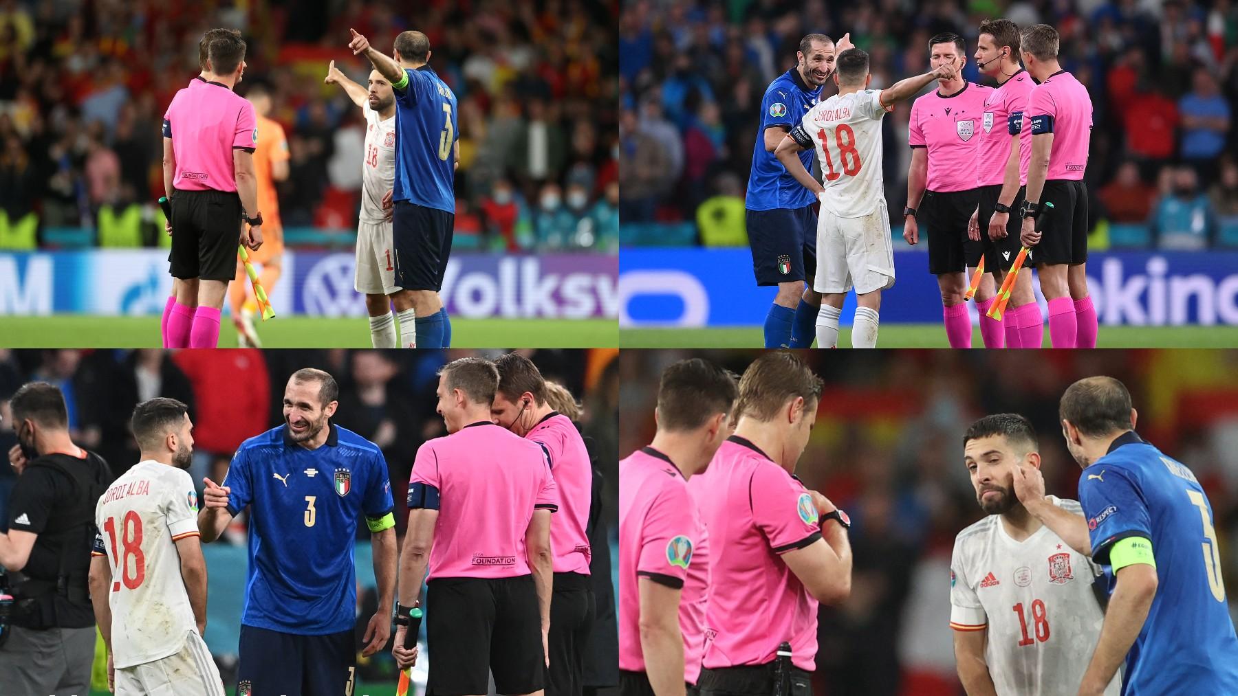 La secuencia de Jordi Alba y Chiellini.
