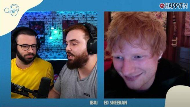Ed Sheeran en una conexión en directo con Ibai Llanos.