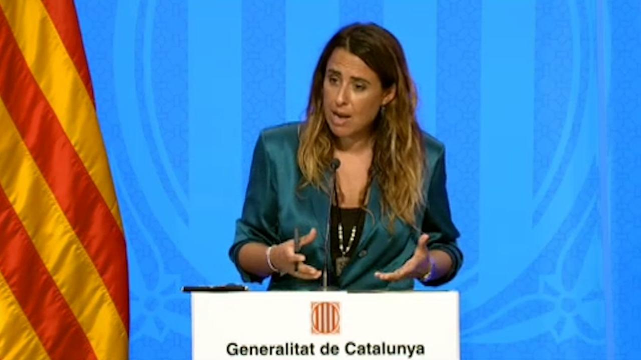 Patrícia Plaja, Portavoz del Govern