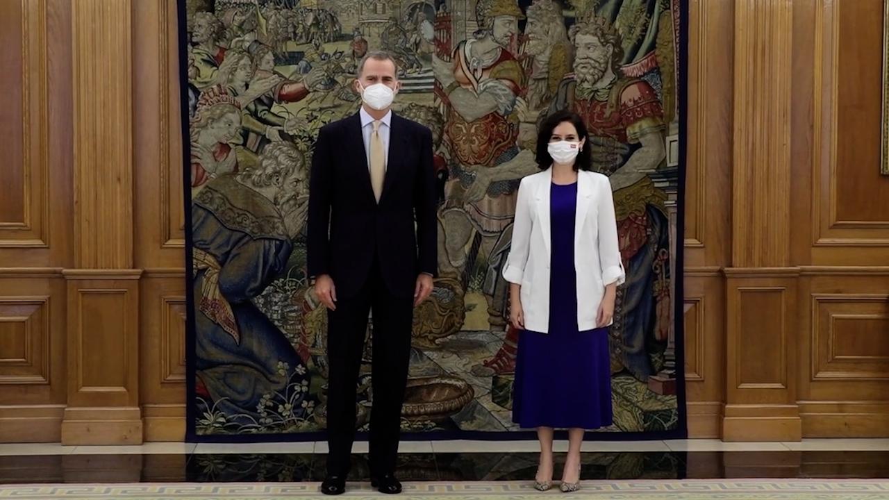 Felipe VI recibe en audiencia a Isabel Díaz Ayuso.