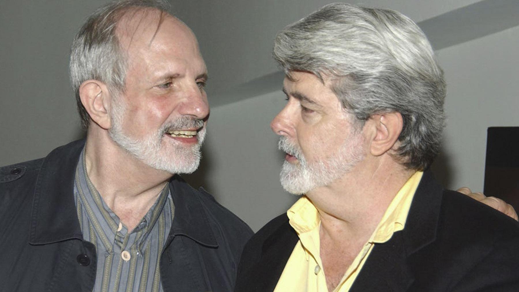 Brian de Palma y George Lucas (Brad Barket/Getty Images)