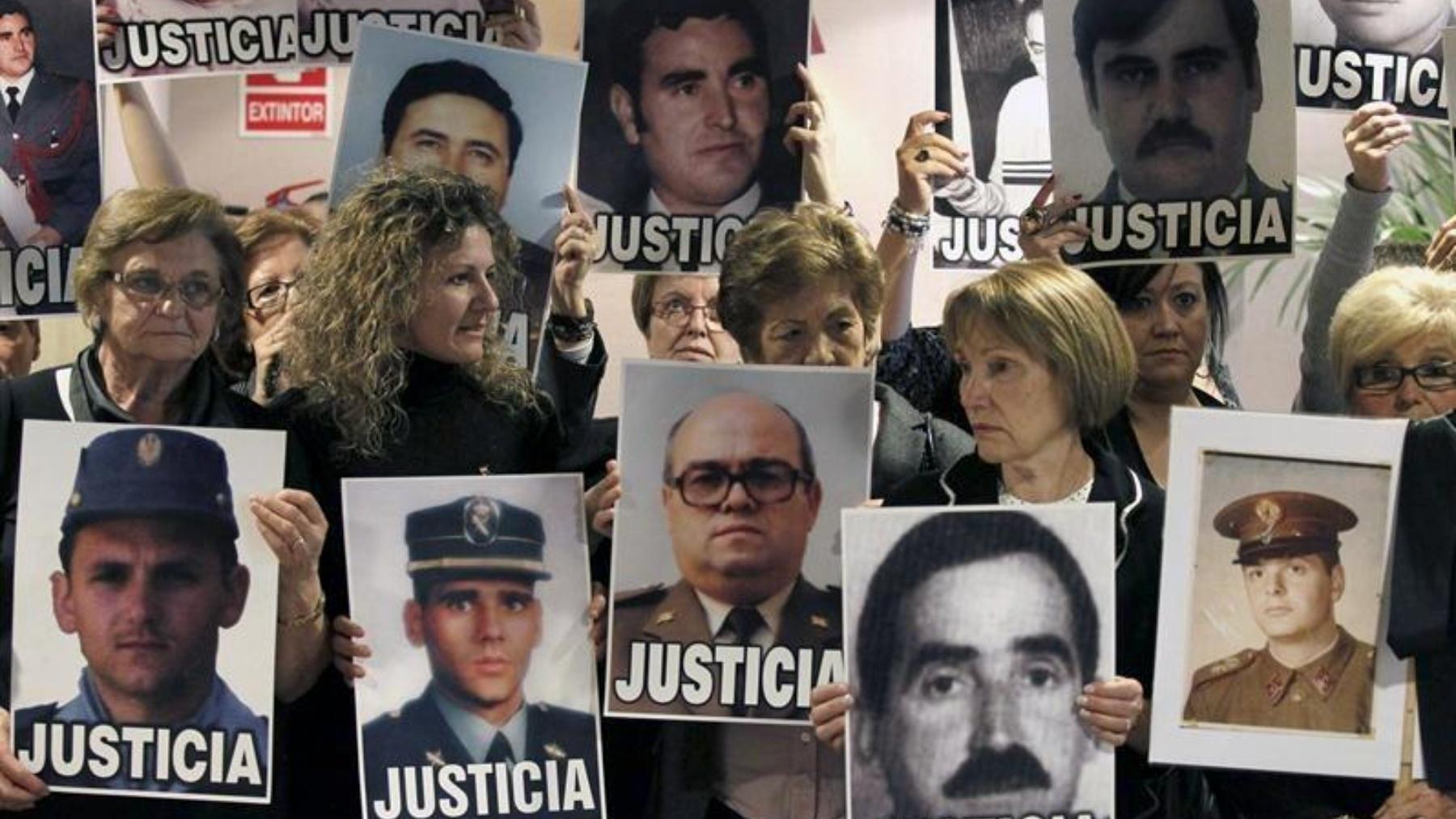 Víctimas de crímenes sin resolver de ETA.