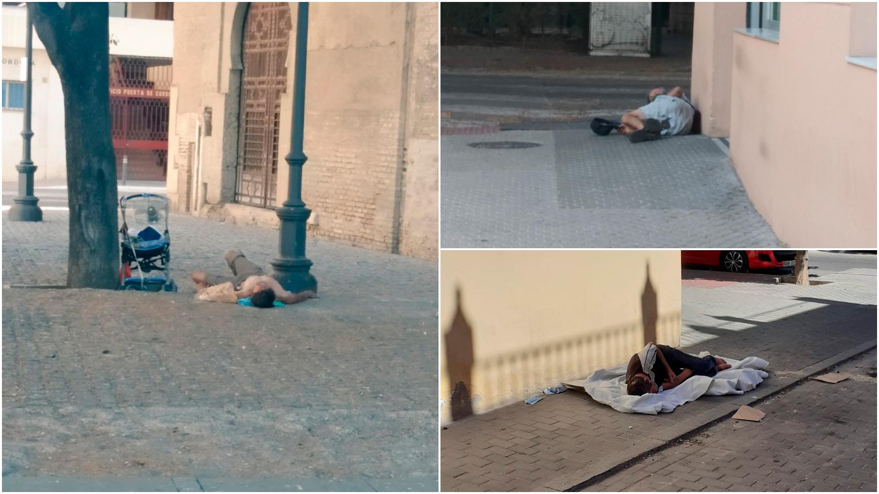 Los sevillanos denuncian sintechos en las calles.