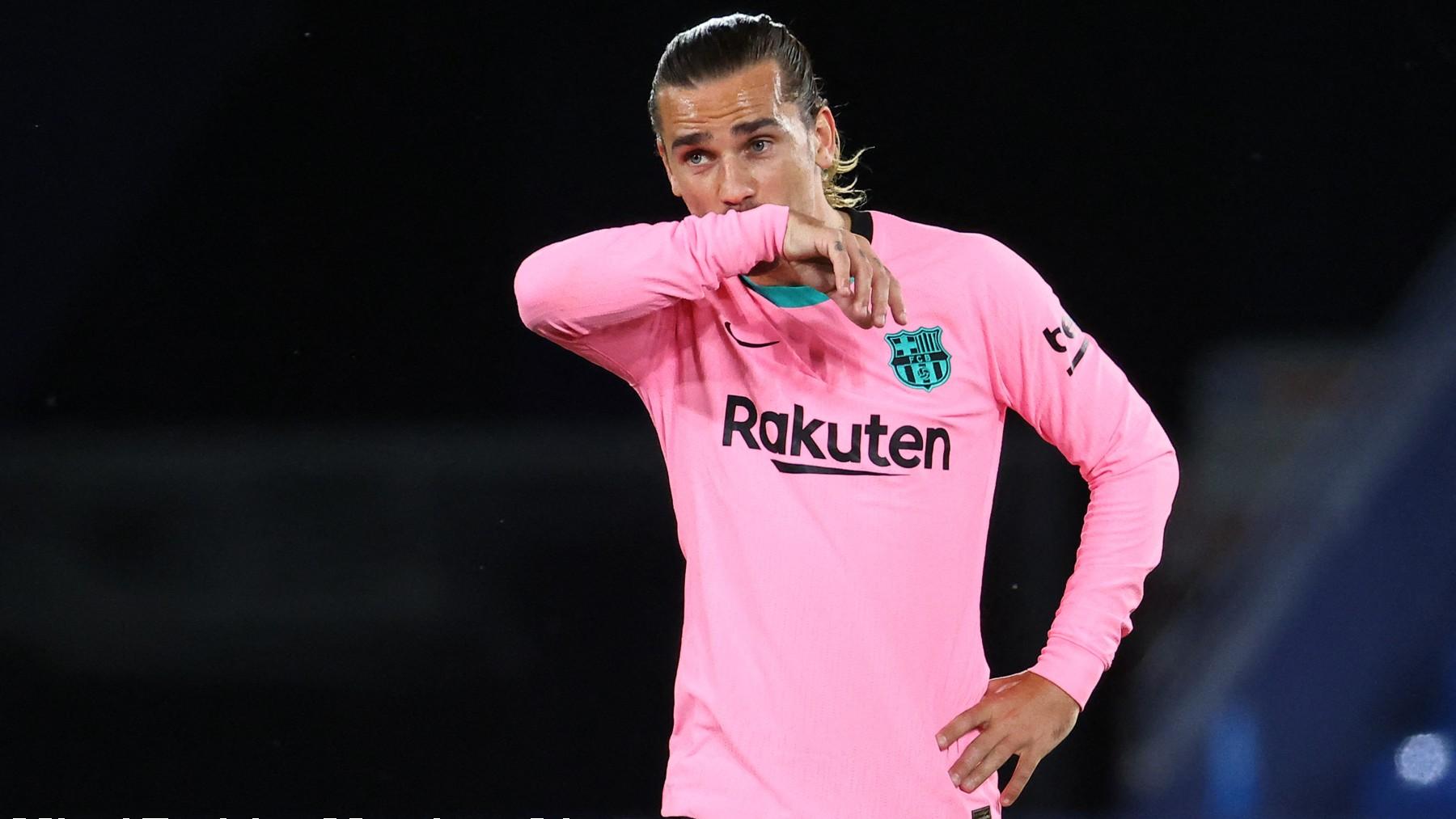 Griezmann, en un partido con el Barcelona. (AFP)