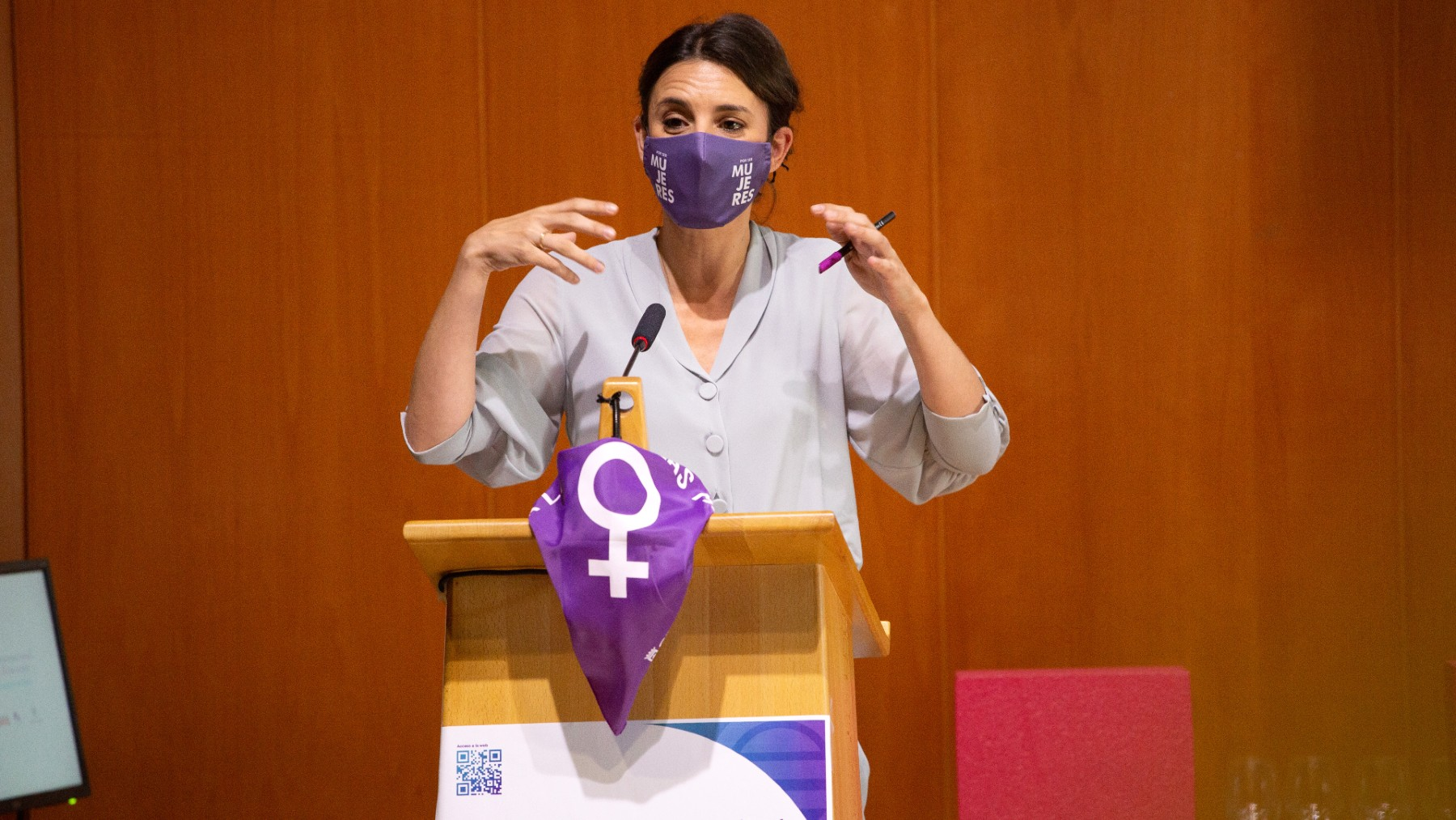 La ministra de Igualdad, Irene Montero. (Foto: Europa Press)