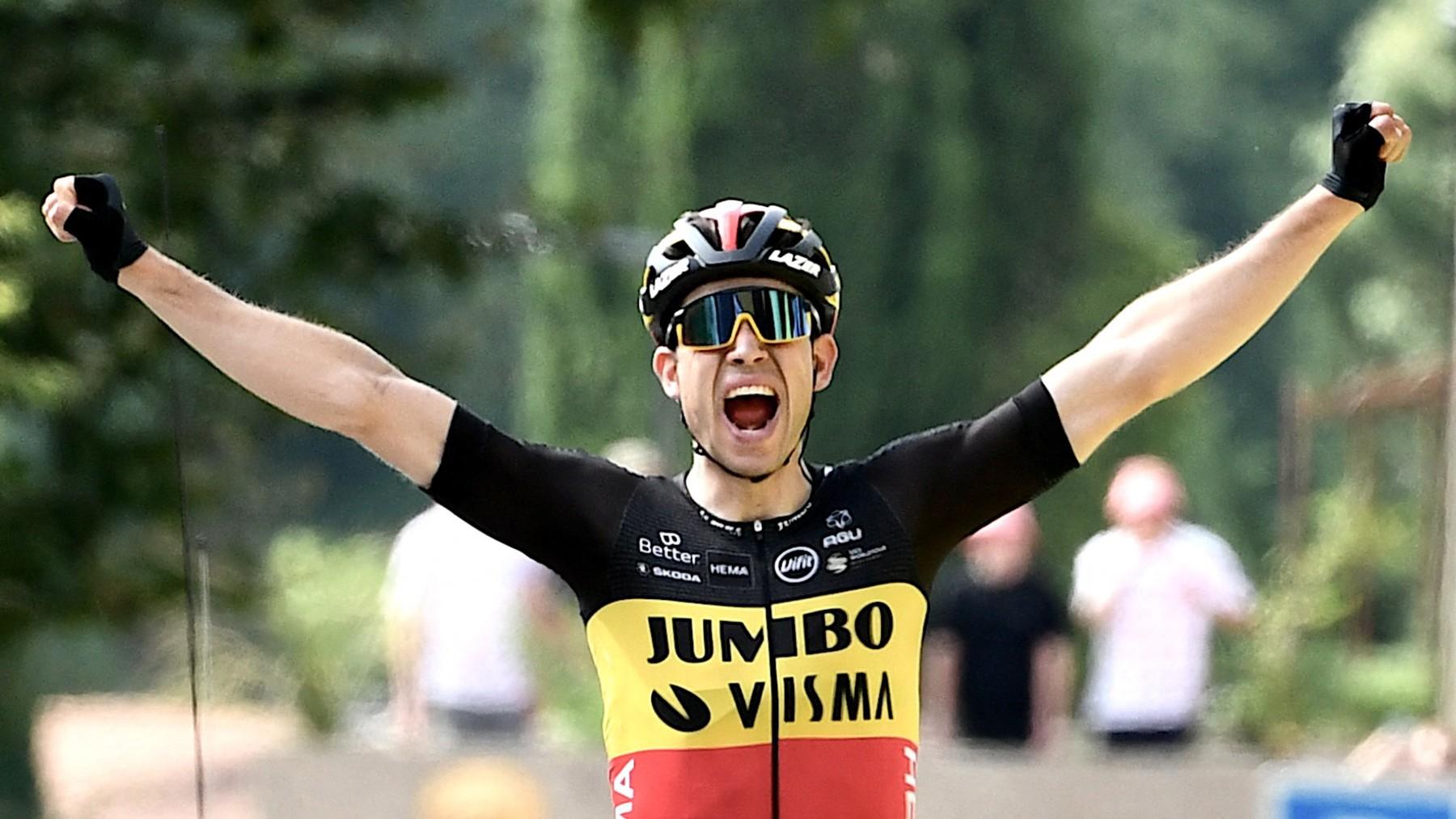 Wout van Aert ganó la décima etapa del Tour de Francia. (AFP)