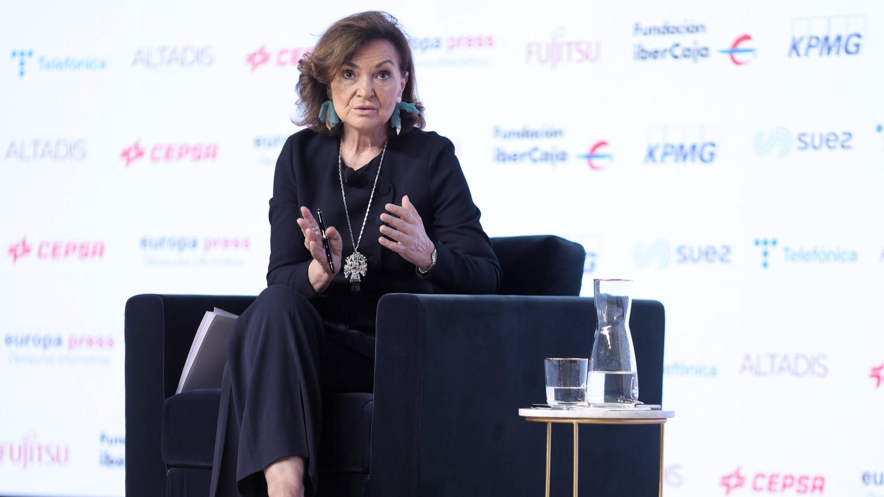 La vicepresidenta primera del Gobierno, Carmen Calvo. Foto: EP
