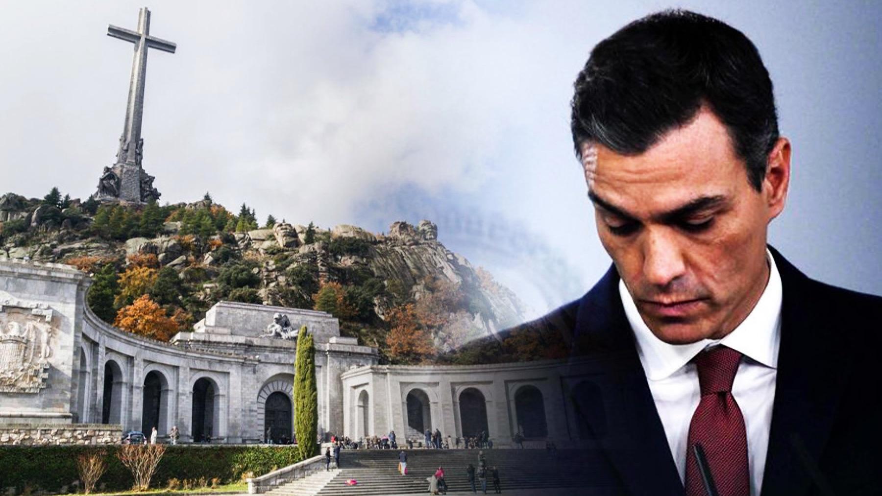 El Valle de los Caídos y Pedro Sánchez.