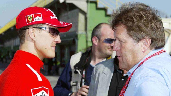 Michael Schumacher y Norbert Haug