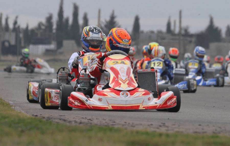 Daniel Briz en el campeonato de España de Karting