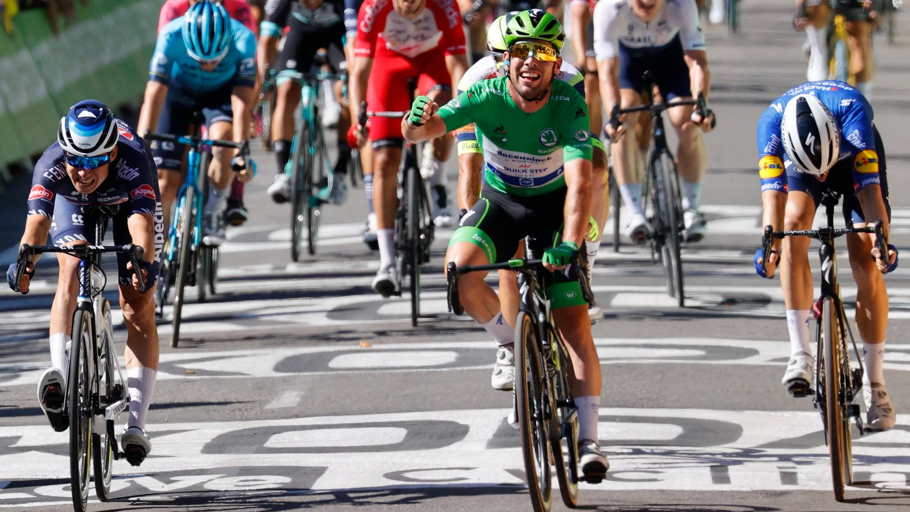 Cavendish celebra una victoria en el Tour. (AFP)