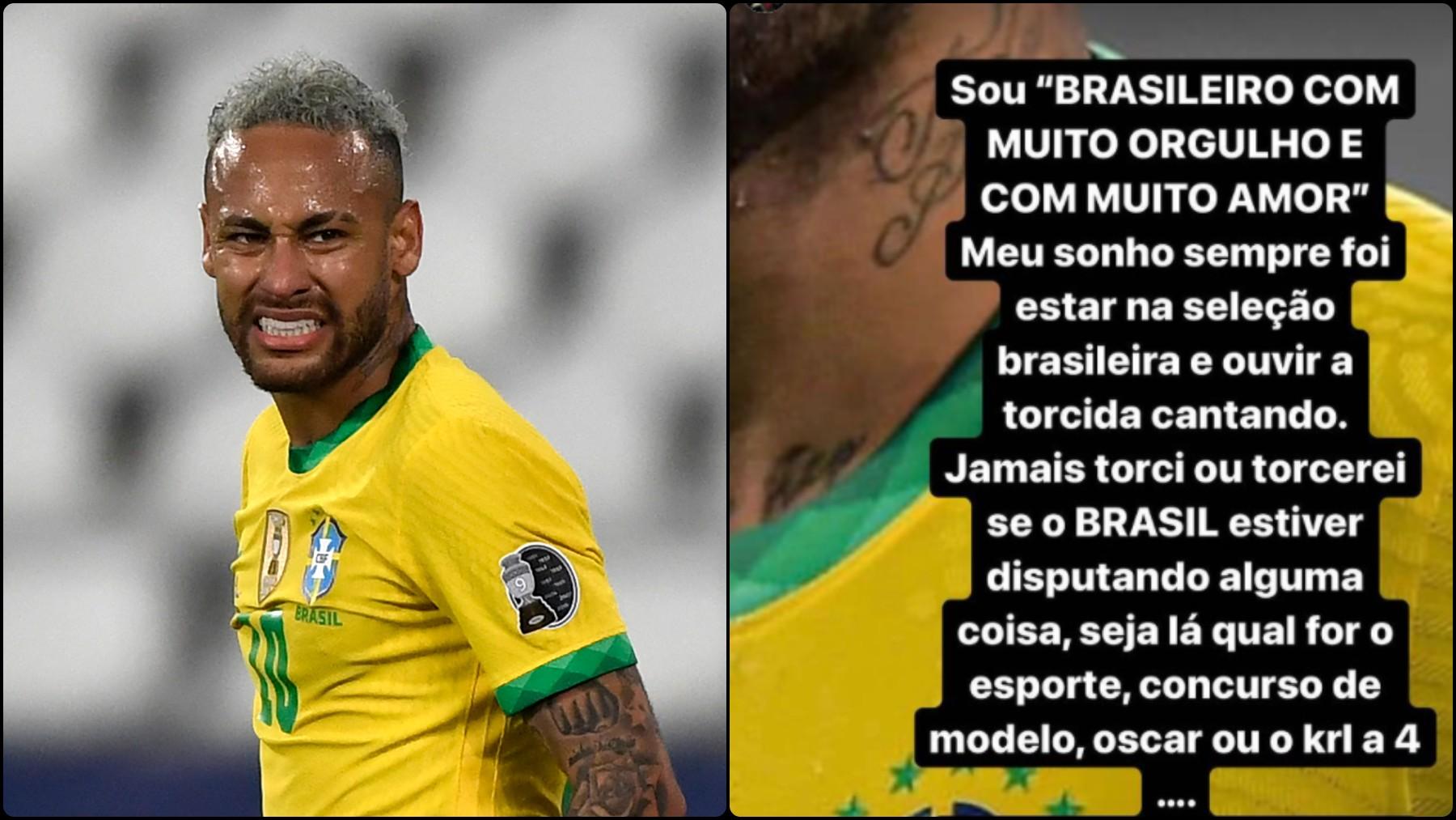 Neymar explota contra los brasileños.