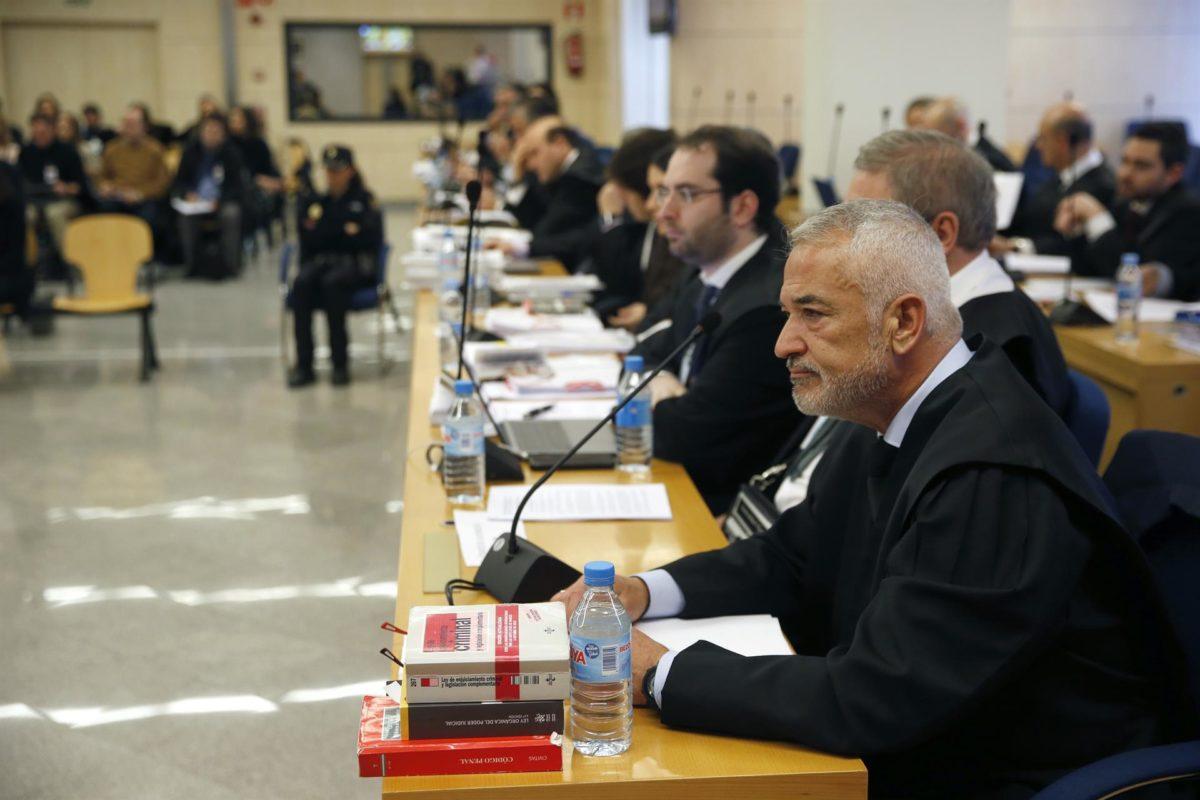 Luis Pineda durante el juicio